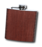 High Quality 6 oz. Wooden Hip Flask - Hand Crafted from Local Wood, Bar - WUDN