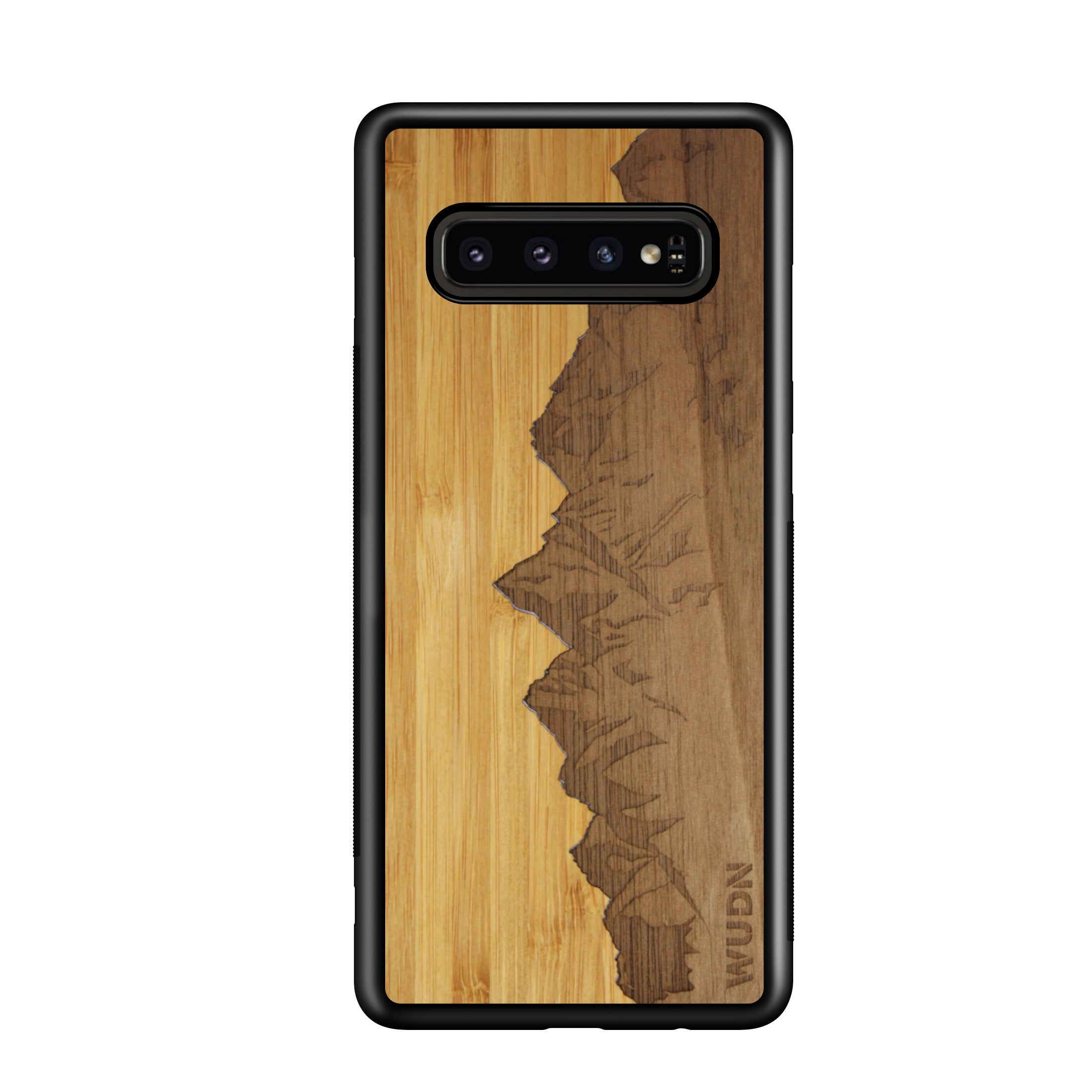 Slim Wooden Phone Case | Sawtooth Mountains Traveler, Cases by WUDN for Galaxy S10 Plus