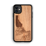 Wooden Phone Case (Outdoor Adventure - Idaho State Night Landscape)