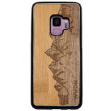 Slim Wooden Phone Case | Sawtooth Mountains Traveler, Cases by WUDN for Galaxy S9