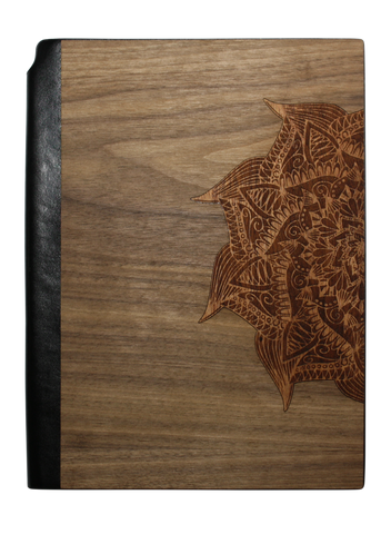 Wooden Journal / Planner | Yoga Mandala Inlay, Journal - WUDN