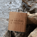 Customizable 6 oz. Wooden Hip Flask