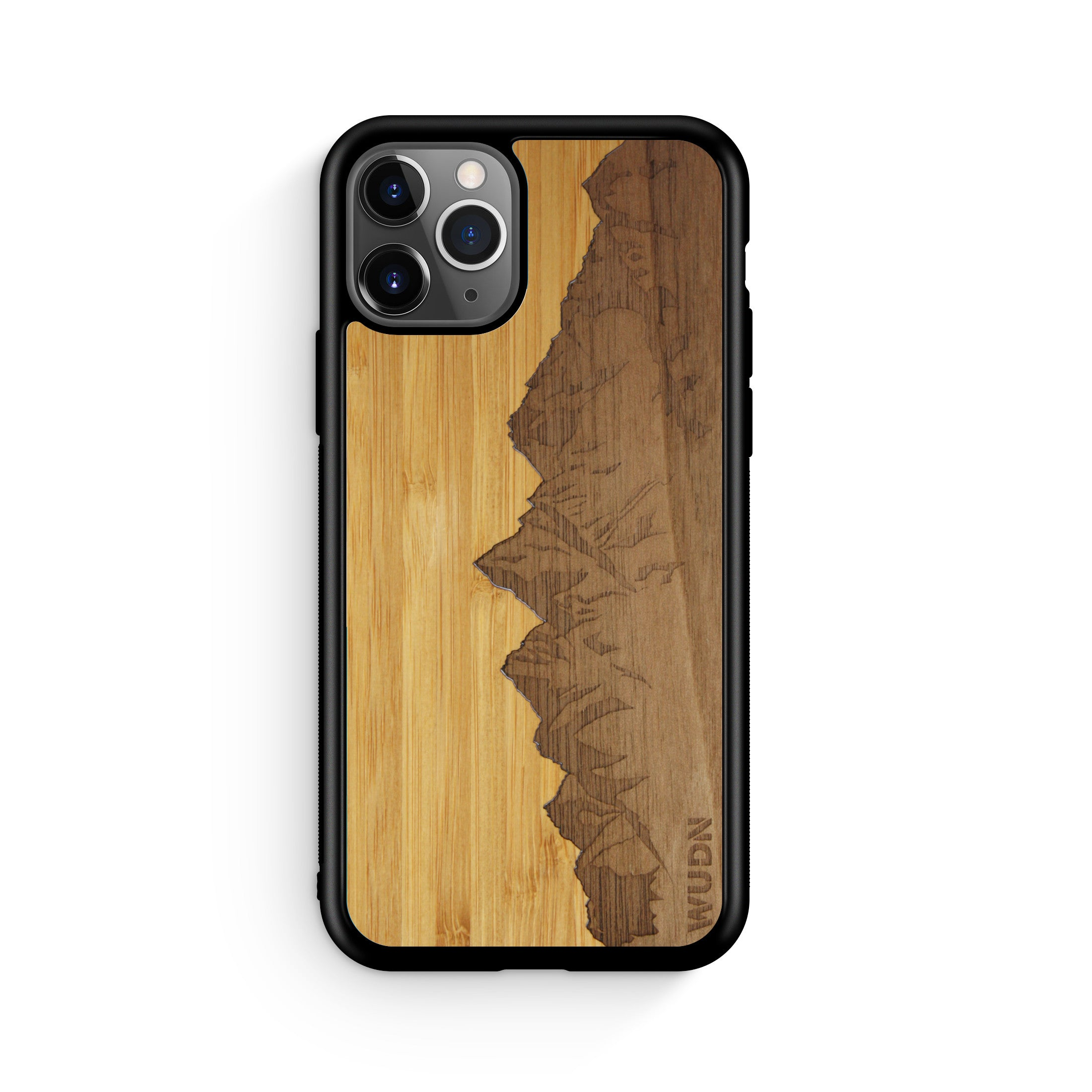 "Slim Wooden Phone Case | Sawtooth Mountains Traveler, Cases by WUDN for iPhone 11 Pro (5.8"")"