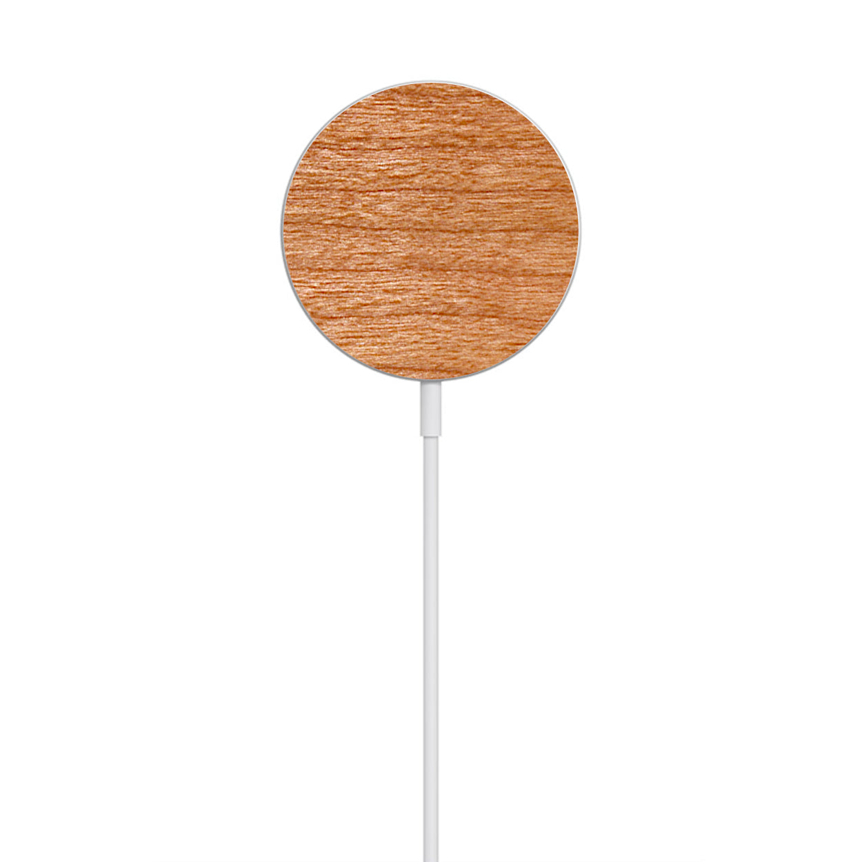 Wooden Magnetic Wireless Charger Compatible with MagSafe for iPhone 12