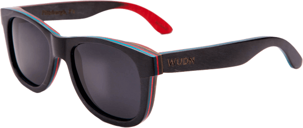 Recycled Skatedeck Ollie Black Sunglasses by WUDN, Sunglasses - WUDN