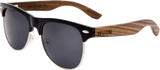 Mens & Women's Vintage Hybrid Dark Walnut Clubmaster Sunglasses - Polarized Lenses - 1