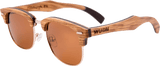 Mens & Womens Handcrafted Vintage Wood Clubmaster Sunglasses - Polarized Lenses - 1