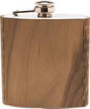 Customizable 6 oz. Wooden Hip Flask, Bar - WUDN