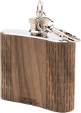 HandCrafted 2 oz. Wood Keychain Flask - 3