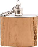 HandCrafted 2 oz. Wood Keychain Flask - 2