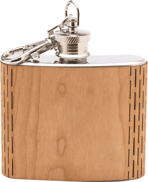 Customizable 2 oz. Wood Keychain Flask, Bar - WUDN