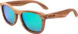 Mens & Women's Handmade Zebra Full Wood  Green or Brown Polarized Lenses - 1