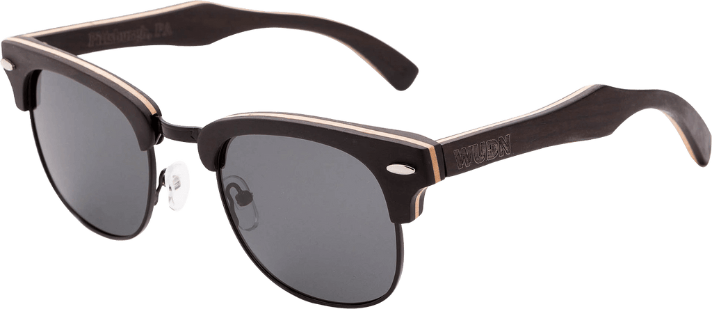 clubmaster style sunglasses polarized  Men\u0027s \u0026 Women\u0027s Brown Handcrafted Vintage Wood Clubmaster ...