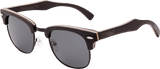 Mens & Womens Handcrafted Vintage Wood Clubmaster Sunglasses - Polarized Lenses - 2
