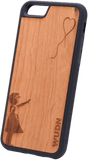 Slim Wooden Phone Case | Banksy Girl With a Balloon, Cases - WUDN