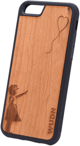 Ultra-Slim Wooden iPhone Case | Banksy Girl With a Balloon