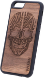 Ultra-Slim Wooden Phone Case | Tribal Skull