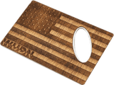American Flag Wood Credit Card Bottle Opener