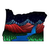 Wooden Phone Case | Outdoor Adventure - Oregon State Night Landscape