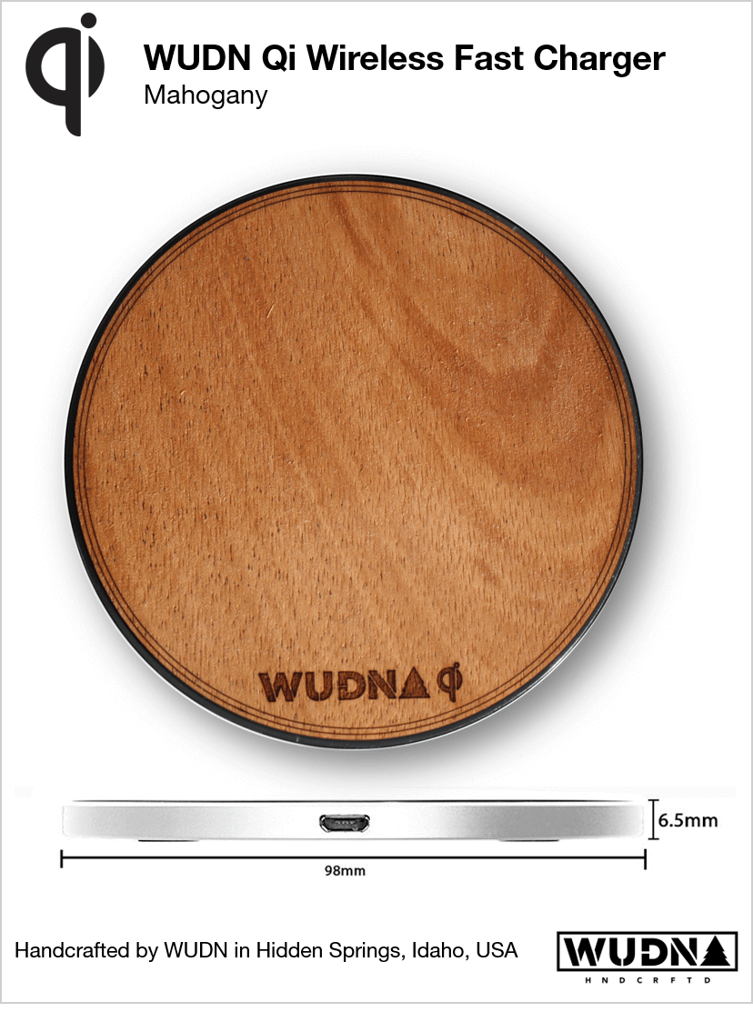 Customizable Wooden Qi Wireless Fast Charger, Power Banks - WUDN