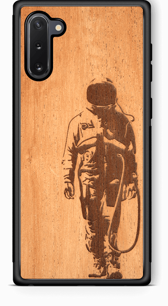 Slim Wooden Phone Case | Banksy Astronaut