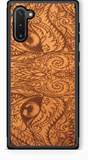 Slim Wooden Phone Case (Mahogany) | Engraved Cat Eyes