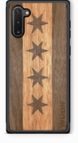 Slim Wooden Phone Case (Chicago Traveler in Mahogany & Black Walnut)