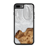 Slim Resin & Wood Phone Case | Arctic White