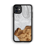 Slim Resin & Wood Phone Case (Coastline Collection - Arctic White)