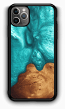 Slim Resin & Wood Phone Case | Deep Sea Green