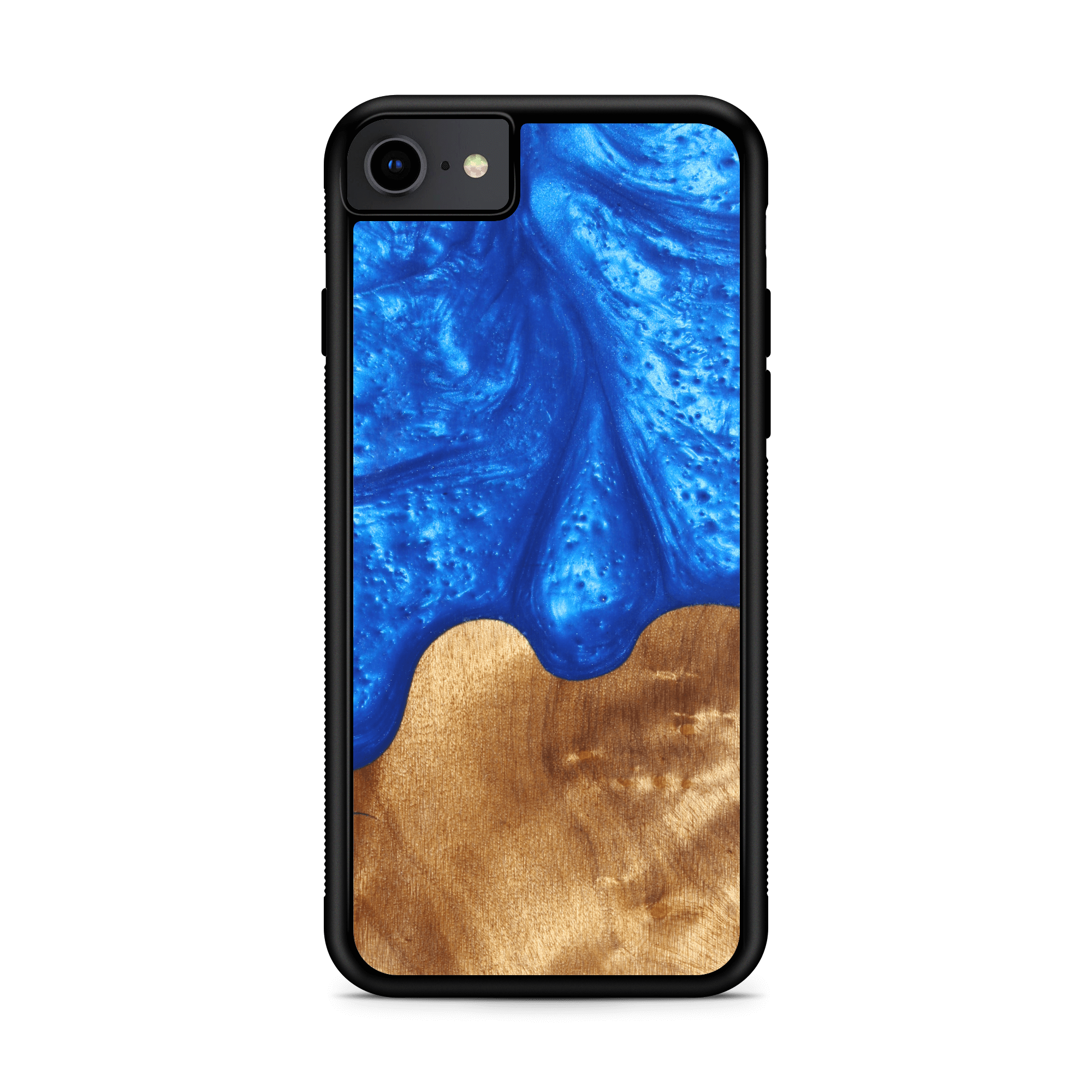 Slim Resin & Wood Phone Case (Coastline Collection - Diver's Blue)