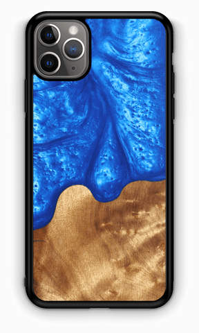 Slim Resin & Wood Phone Case | Diver's Blue