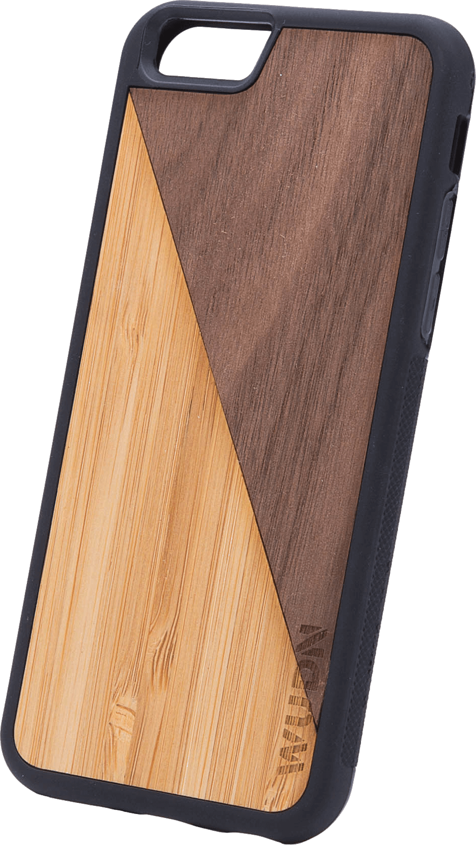 Slim Wooden Phone Case (Bamboo / Walnut Split)