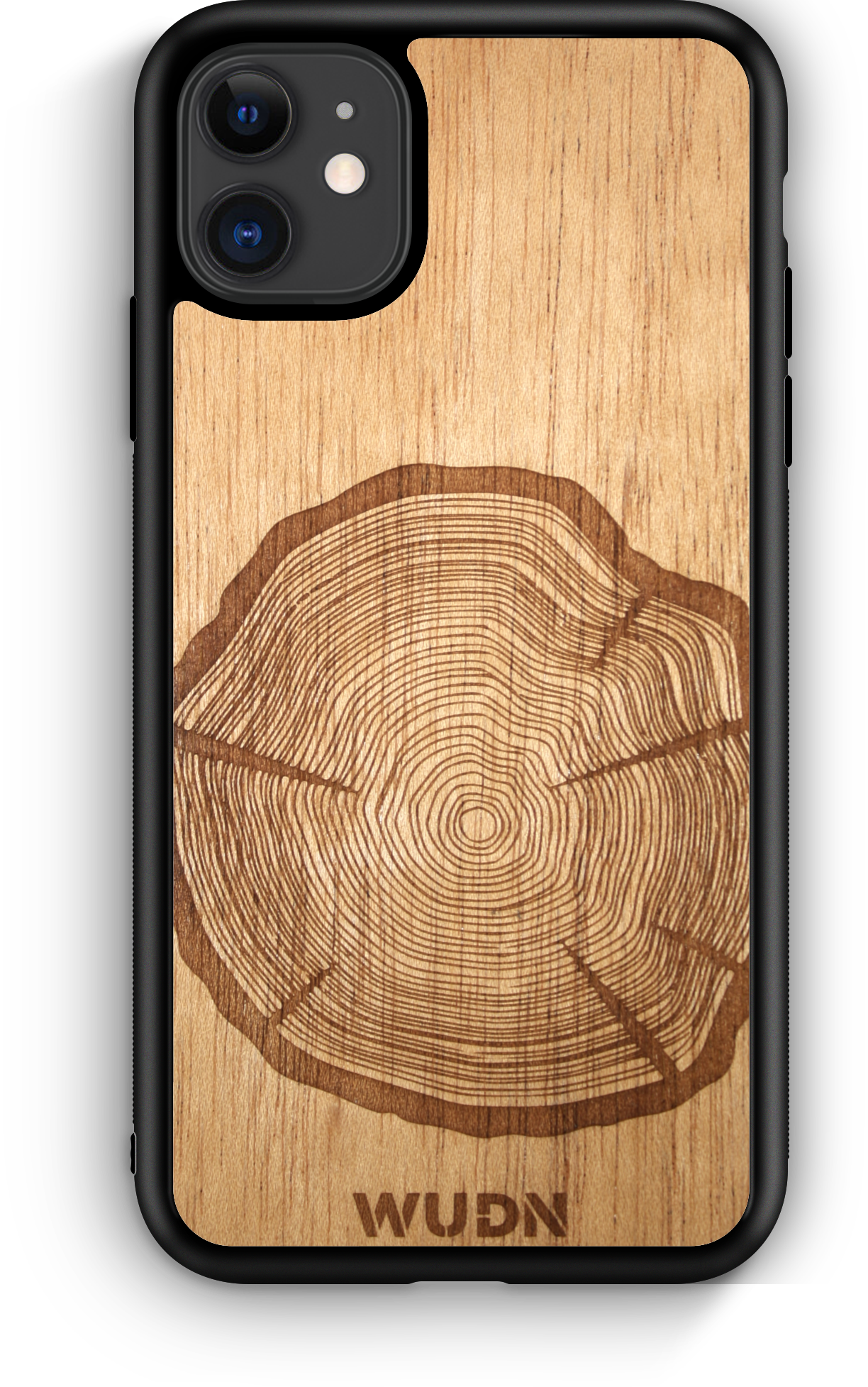 Slim Wooden Phone Case (Tree Stump in Mahogany)