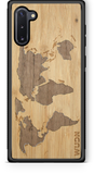 Slim Wooden Phone Case (Bamboo Inlay) | World Map Traveler