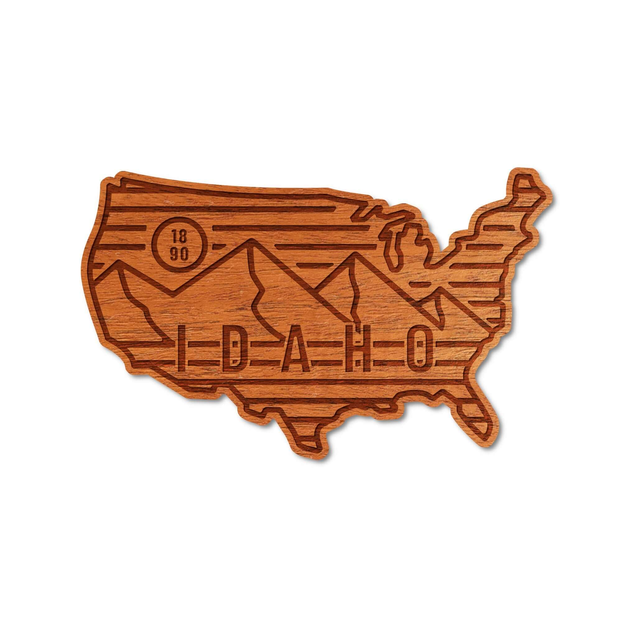 Real Wood Stickers - Idaho Adventure Collection