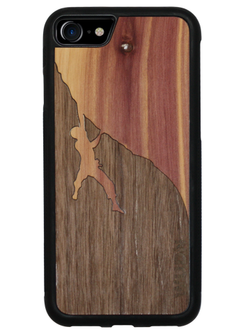 Slim Wooden Phone Case | Rock Climber Inlay, Cases - WUDN