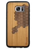 Slim Wooden Phone Case | Custom Honeycomb Inlay