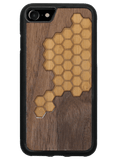 Slim Wooden Phone Case | Custom Honeycomb Inlay, Cases - WUDN