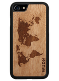 Slim Wooden Phone Case | World Map Traveler, Cases - WUDN