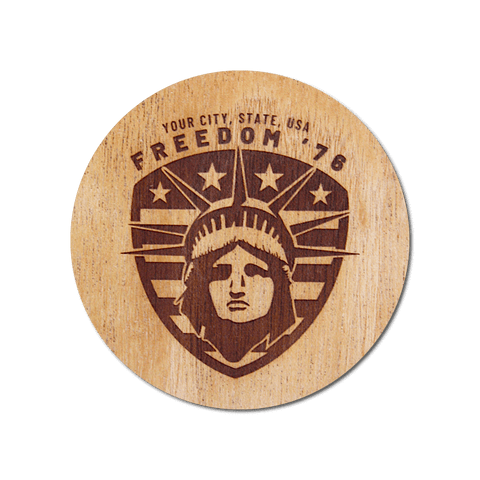 Real Wood Sticker - Freedom '76 Collection (Customized with your City & State)