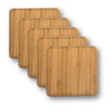 Customizable Solid Wood Coasters - 4-Pack, Bar - WUDN