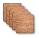 Customizable Solid Wood Coasters - 4-Pack