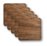 Solid Wood Coasters - 4-Pack, Bar - WUDN