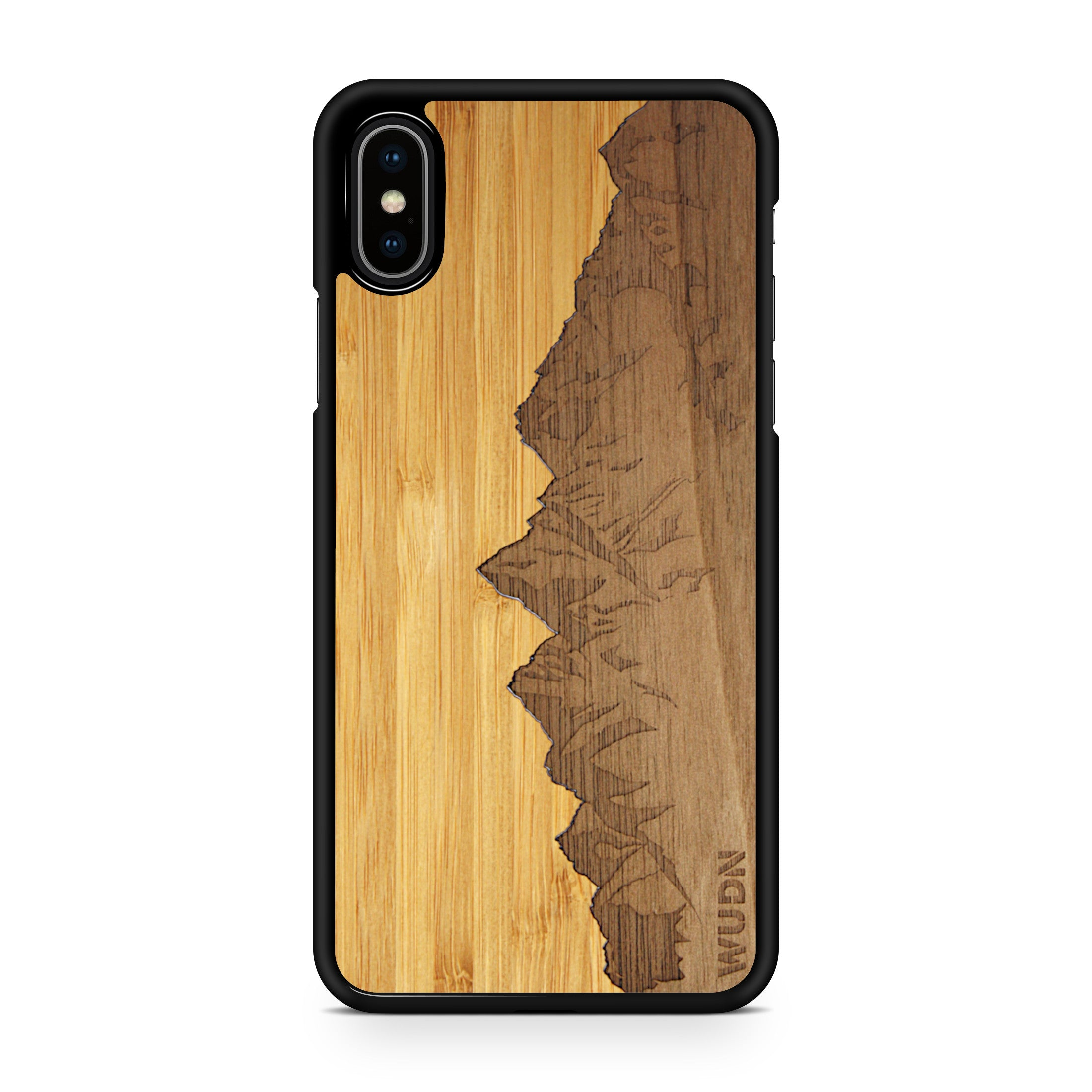 Slim Wooden Phone Case | Sawtooth Mountains Traveler, Cases by WUDN for iPhone Xs Max