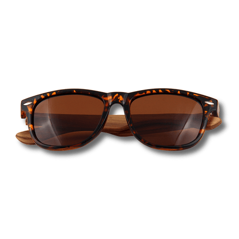 Real Zebra Wood Tortoise Frame Wanderer Sunglasses by WUDN, Sunglasses - WUDN