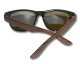Real Ebony Wood Wanderer Style Sunglasses by WUDN