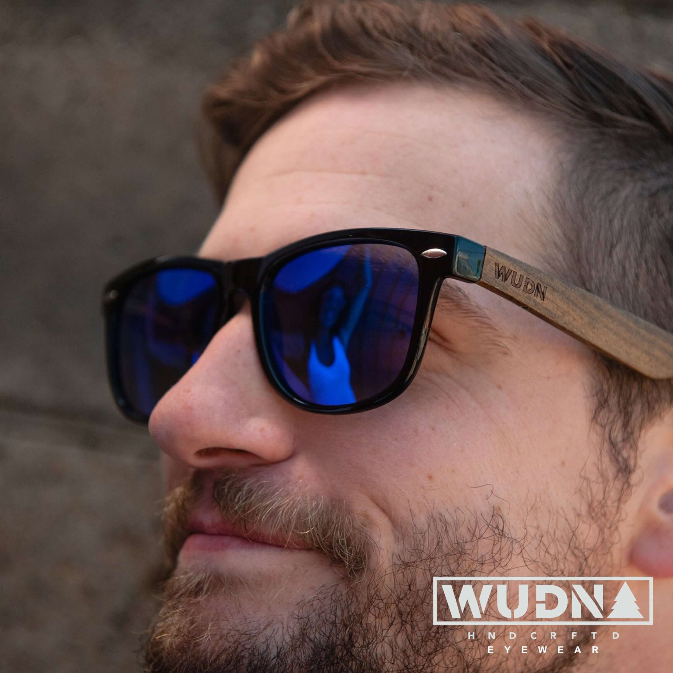 Real Ebony Wood Wanderer Style Sunglasses by WUDN, Sunglasses - WUDN