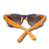 Recycled Skatedecks Halfpipe Orange Sunglasses by WUDN, Sunglasses - WUDN