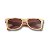 Recycled Skatedeck Kickflip Natural Sunglasses by WUDN, Sunglasses - WUDN